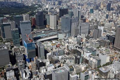 京橋一丁目東地区の空撮