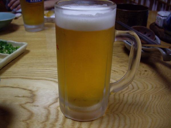 すたんど割烹いし山生ビール