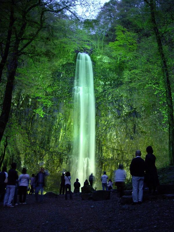 玉簾の滝ライトアップ1