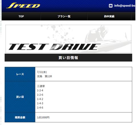 SPEED11日TEST