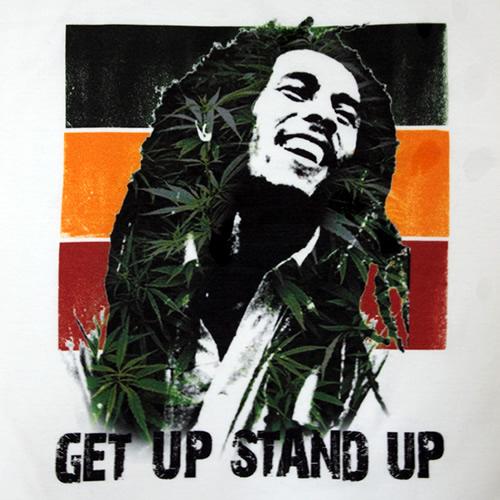 ボブマーリーTシャツ ボブマーリーTシャツ GET UP STAND UP 起きろ!立ち上が..