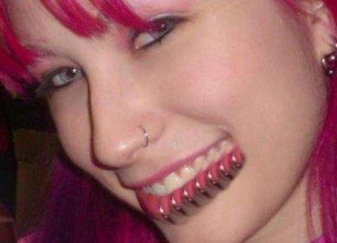 full facial piercings