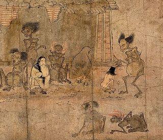 Gaki-Zoushi セレモニーは、木魚に合わせて皆が般若心経の英語訳を唱え、ひとりづつ順番に