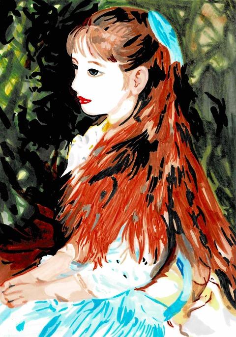 ルノワール「イレーヌ・カーン・ダンヴェール嬢の肖像」