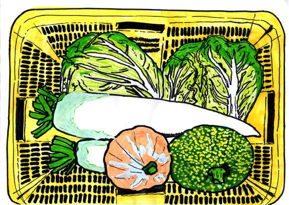 おじいちゃんが作った野菜