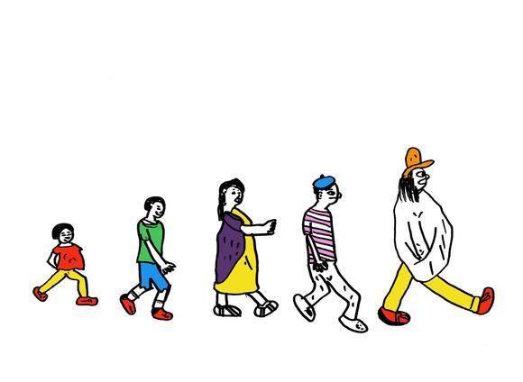 ボギー家族の絵(テン) カラー