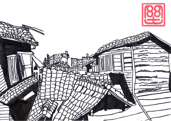 屋根の景色