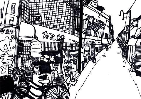 大阪風景たこやき