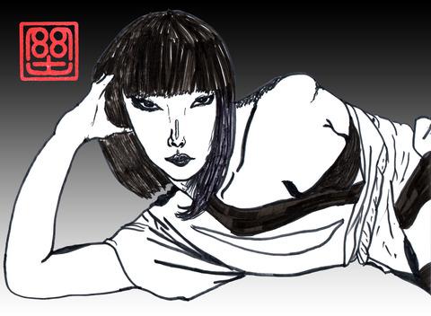 山口小夜子(黒)