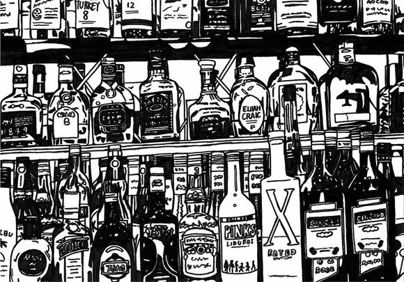 ウィスキーの棚