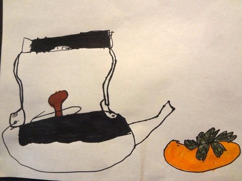 柿とやかん