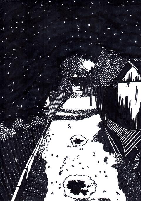 阿佐ヶ谷の夜の路地