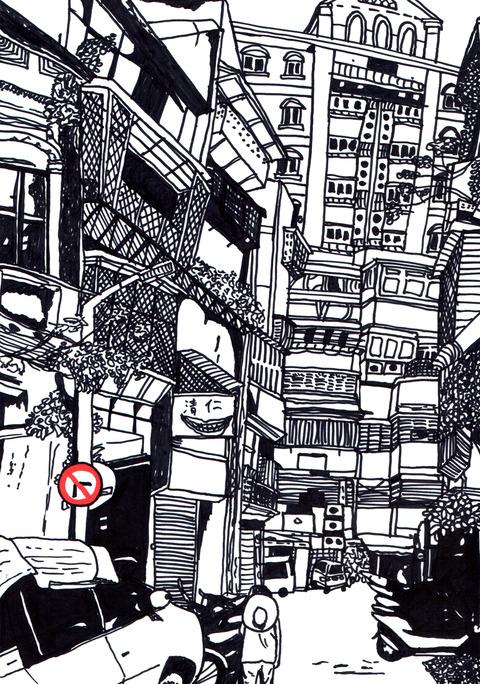 台湾の街並
