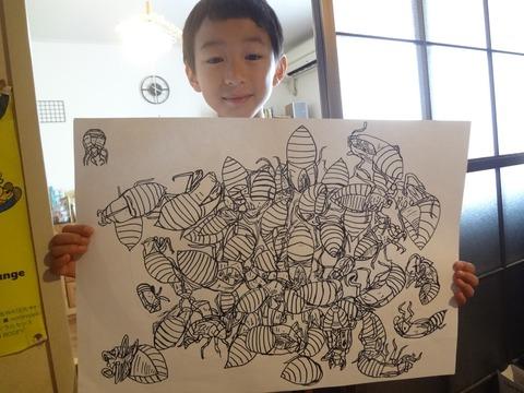 蝉のヌケガラ