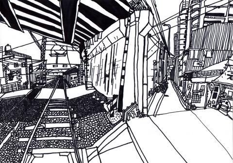 大阪の高架下