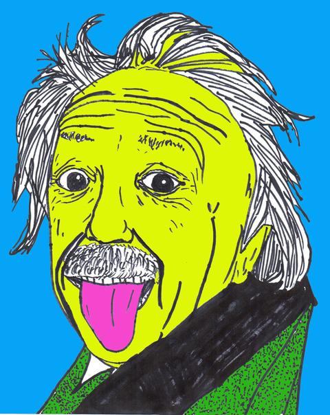 アインシュタイン色付き