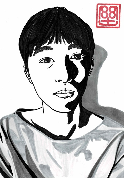 奥村門土17歳の自画像