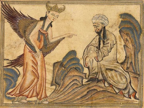 Mohammed_receiving_revelation_from_the_angel_Gabriel