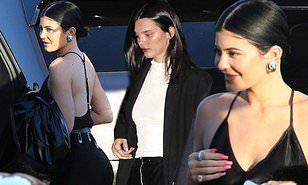 【背中ぱっくりが大胆…!?】カイリー・ジェンナーがケンダル・ジェンナーとディナーにお出かけ!Kylie Jenner steps out for dinner with Kendall Jenner and Kris Jenner