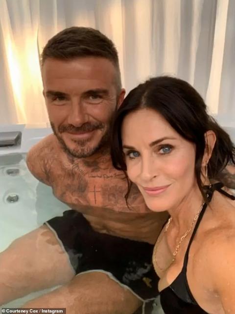 【共演女優と水着でジャグジー!?】デイヴィッド・ベッカムがコメディドラマに出演!David Beckham in a hot tub with Courteney Cox