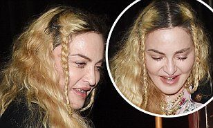 【60歳とは思えない不自然に突っ張ったお肌…!?】マドンナがロンドンで深夜のディナーにお出かけ!Madonna enjoys dinner in London
