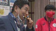 名古屋 河村市長がかんだ金メダル 新たなものに交換へ