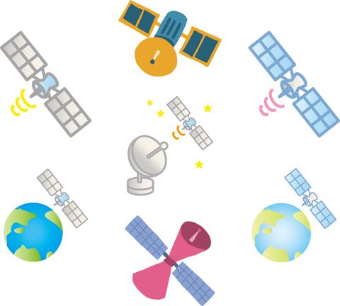 人工衛星ーアンテナ