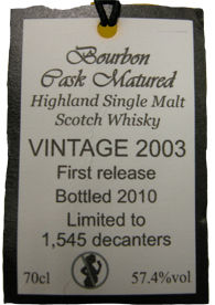 edradour bourbon 2003tag