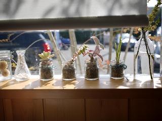 カフェの窓辺