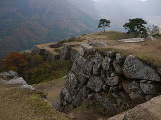 竹田城 眼下の景色