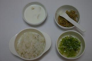 朝食 納豆味噌汁