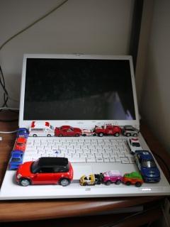 パソコンがキャンバス