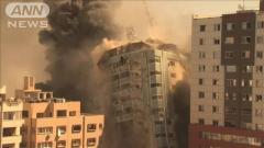 イスラエル軍 海外メディアも入るビル空爆