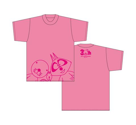 ぼのぼのTシャツ(正面/ピンク)