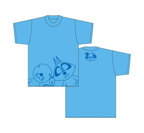 ぼのぼのTシャツ(正面/ブルー)