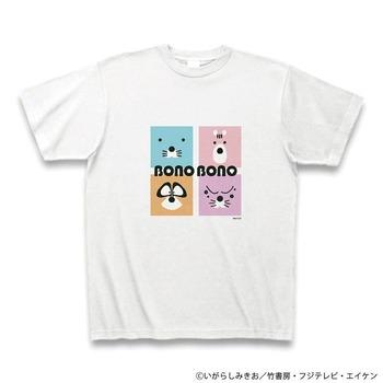 cp_ぼのぼのたち_スクエアTシャツ_ホワイト+