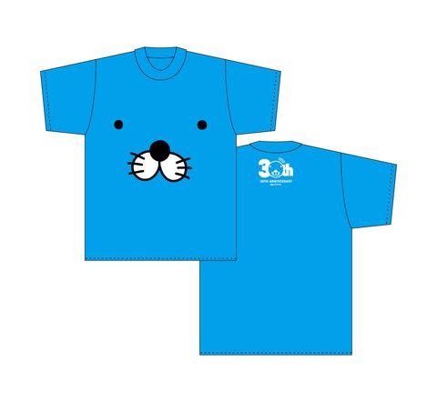 ぼのぼのTシャツ(ぼのぼのフェイス/ブルー)