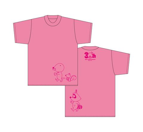 ぼのぼのTシャツ(横歩き/ピンク)
