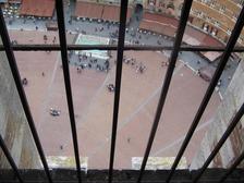 マンジャの塔途中から見たカンポ広場