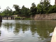 松江城お堀(船から)