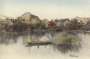 大岡川の舟遊び