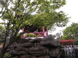 中国庭園滝