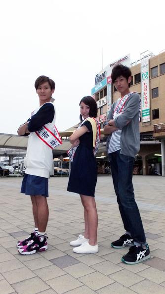 関大前選挙活動