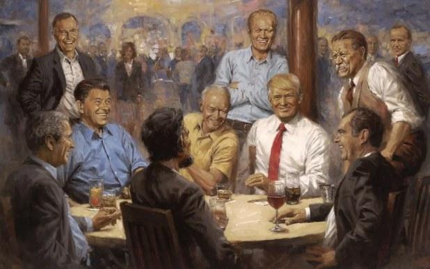 【悲報】体形フェイク?トランプ大統領を描いた絵画がSMS上で酷評される