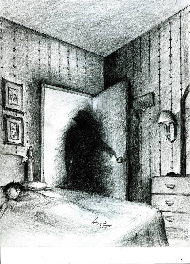 子供のころ朝方トイレに起きたら帽子かぶった真っ黒い幽霊みたって奴いる?