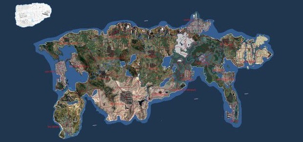 GTA6のマップ、公開される
