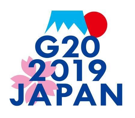 2019 年大阪サミット。大阪からは見えない癖に富士山を象ってしまう。