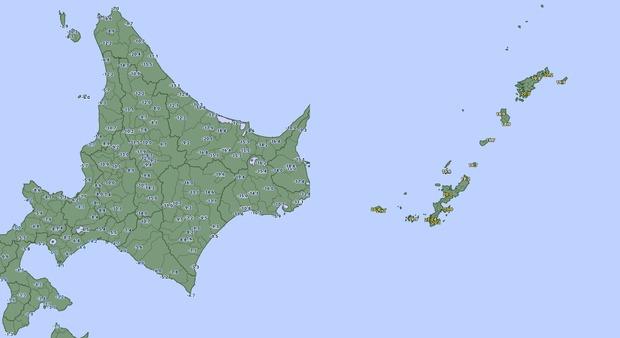 【画像】現在の北海道と沖縄の気温がこちらwww