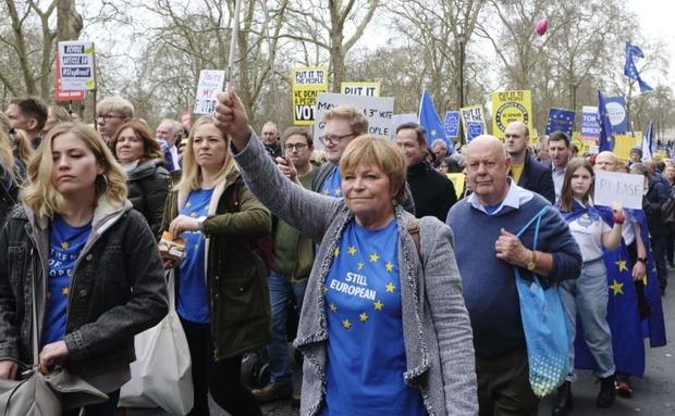 【こないだやっただろw】イギリス人 EU残留するための国民投票実施を訴えデモ