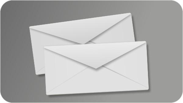 二つの封筒にお金がそれぞれ入っています どちらかの封筒はもう一方の二倍の金額が入っています